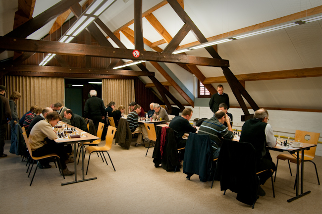 The playing hall in Opwijk (with other teams are also playing)