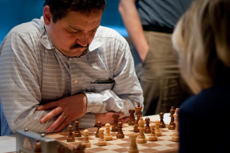 Jenő Czucai on 4th board in Europchess 1