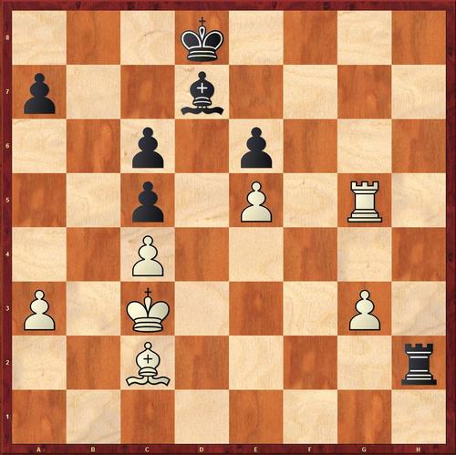 Pere is playing Black. White is to move and it looks drawish