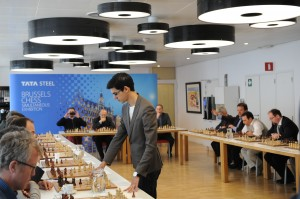 Dutch champion Anish Giri in Brussels